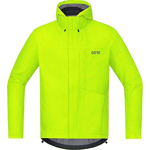 GORE Wear Men's Waterproof Hooded Bike Jacket, GORE Wear C3 GORE Wear -TEX Paclite Hooded Jacket, Size: XXL, Color: neon yellow, 100036