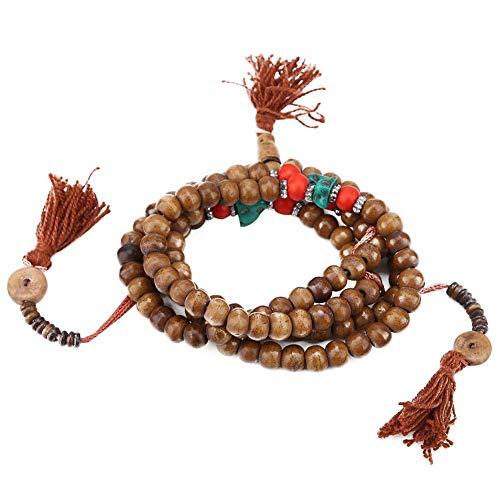 108 kralen Tibetaanse boeddhistische gebed rozenkrans Yak Bone Tibetaanse boeddhistische gebed kraal boeddhistische Stretch armband Boeddha armband ketting hand-make boeddhistische gebed Mala kralen