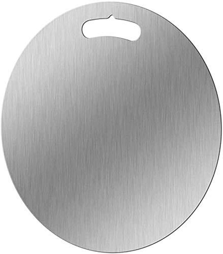 BAODI Tabla de Madera para Picar Tabla de Corte 304 Acero Inoxidable Panel Anti-moldeo Cocina Antibacterial Cocina Hogar Tablero Pizarra Carne (Size : 40cm)