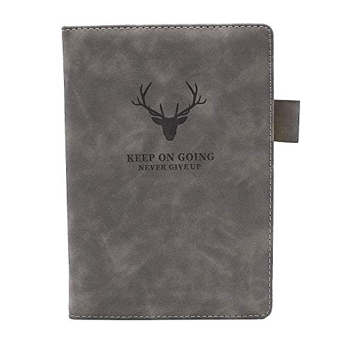 Cuaderno de notas A5, de piel sintética de tacto suave, con papel grueso de 360 páginas, perfecto para el hogar, la escuela, la oficina, el negocio y la toma de notas (gris, A5)