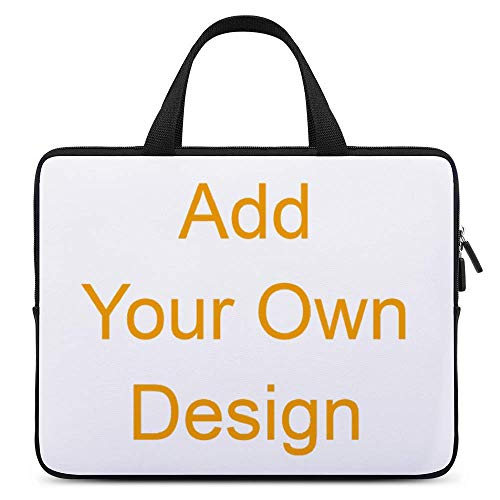 Custom Laptop Shoulder Bag Carrying Case, Personalized Laptop Bag with Photo and Text, Computer Sleeve Laptop Case Briefcase Shoulder Bag for Ultrabook, MacBook, Asus, Samsung, Notebook (16.5 In)