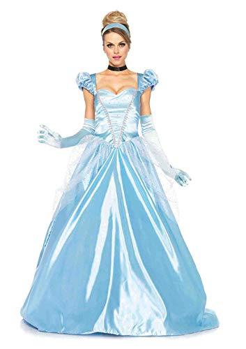 Leg Avenue- Cenicienta Mujer, Color azul, Medium (EUR 38-40) (8551802038)