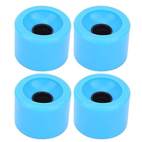 ROMACK Rueda de monopatín de Alta Elasticidad 4PCS / Set Dirección de monopatín No es fácil caerse o deformarse(Azul)