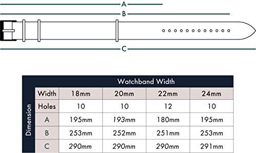 Benchmark Straps 18mm Dark Brown Oiled Leather NATO Watchband