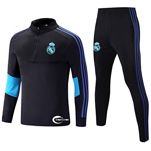 WQINSHOE 19/20 Heimtrikot Saison Trikot Sportanzug Fußball Sportswear T-Shirt Gr. 34-37, Real Madrid