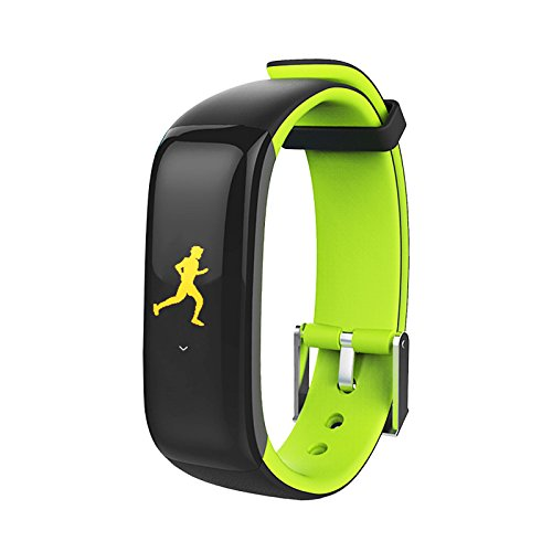 AUPALLA Kids Activity Tracker with Heart Rate Monitor Smart Health Watch for Girls and Boys (Green+Black)