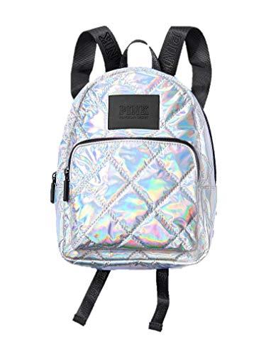 Victoria's Secret Mini Backpack Pink Iridescent Silver Metallic