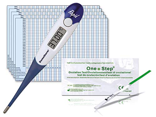Thermometer Domotherm 0830 Rapid mit 5 Zykluskalendern und 20 One+Step Ovulationstests
