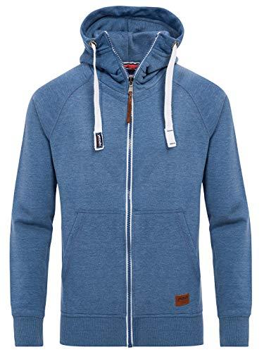 Yazubi Blaue Kapuzenjacke Männer Sweatshirtjacke Zipper Hoody Sweetjacken Herren Kapuzen Hoodie Jacob, Blau (Bijou Blue 2R183921), 5XL