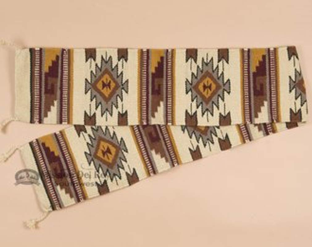 Mission Del Rey Native Southwest Table Runner 100 Handwoven Wool 10 X80