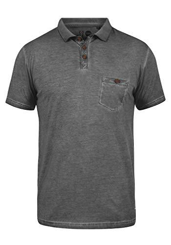 !Solid Termann Herren Poloshirt Polohemd T-Shirt Shirt Mit Polokragen Aus 100prozent Baumwolle, Größe:M, Farbe:Dark Grey (2890)