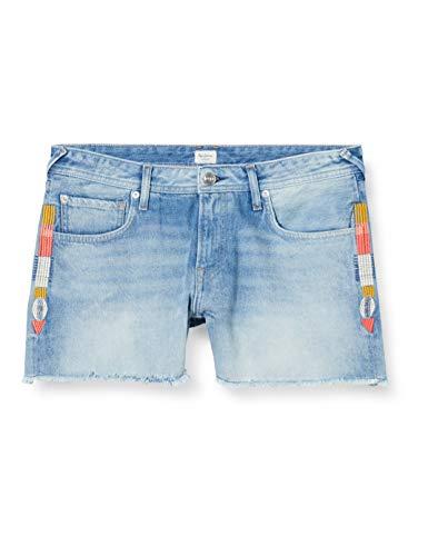 Pepe Jeans Damen Badeshorts, Blau (Denim 000), 33W