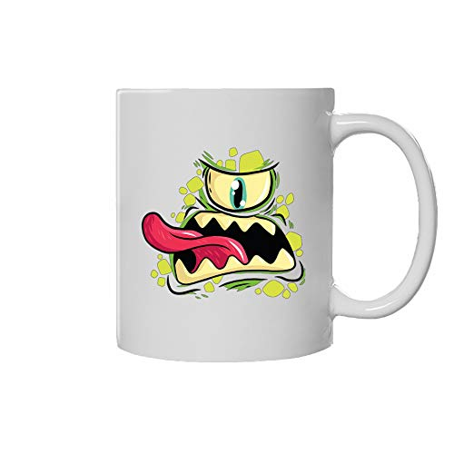 Amazing tools living Mug with Handles ; Ceramic Cups Gifts ; Porcelain Pottery Cup Gift (Size: 11 oz - 0.33 l ; Size : 15 oz - 0.44 l) for '' Cyclops Monster ''