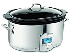 6.5-quart, oval-shaped, stainless-steel slow cooker with removable black ceramic insert, large enough to cook food for a crowd and goes right to table for serving. 4-20 hours cooking times with a complete cycle time of up to 26 hours for preparing ho...