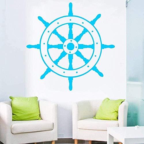 Etiqueta engomada de la pared del vinilo extraíble etiqueta engomada de la rueda del barco náutico etiqueta engomada del arte de la pared etiqueta de la pared del hogar papel 57X70Cm