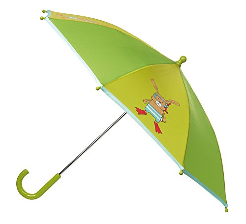 sigikid, Mädchen und Jungen, Regenschirm mit tauchendem Häschen, Grün, 24942