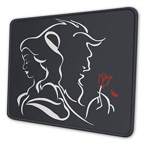 Beauty Within The Beast Gaming Mouse Pad with Stitched Edges and Non-Slip Rubber Base Mousepad for Computer and Laptop 8.3×10.3×0.12 inch(210×260×3mm)