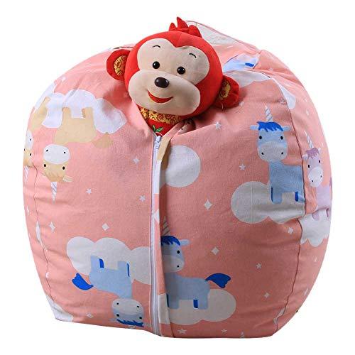 NAMYA Stofftier-Aufbewahrungs-Sitzsack für Kinder, Plüschtiere, Kleidung, Quilts
