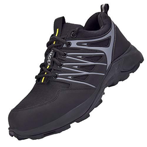 Zapatos de Seguridad Hombre Mujer Zapatos de Trabajo Cómodo Anti-presión y Anti-pinchazos Ligeras Industriales Transpirables