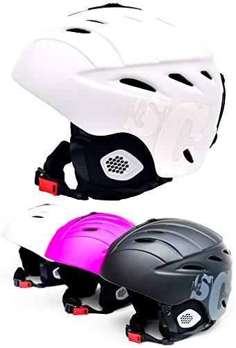 Skullcap® Skihelm M Damen Mädchen Herren Jungs Snowboard-Helm, White Weiß M