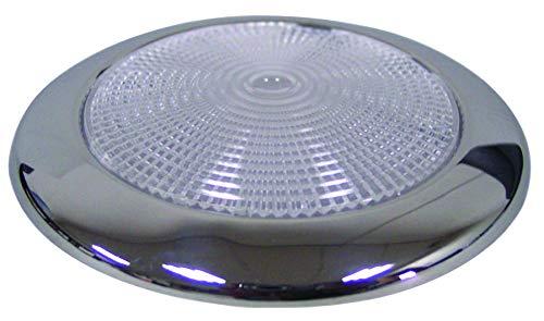 Allpa Lámpara de Techo LED, iluminación Interior, Barco, Caravana, Autocaravana, 12 V, Blanco cálido, 93mm Ø