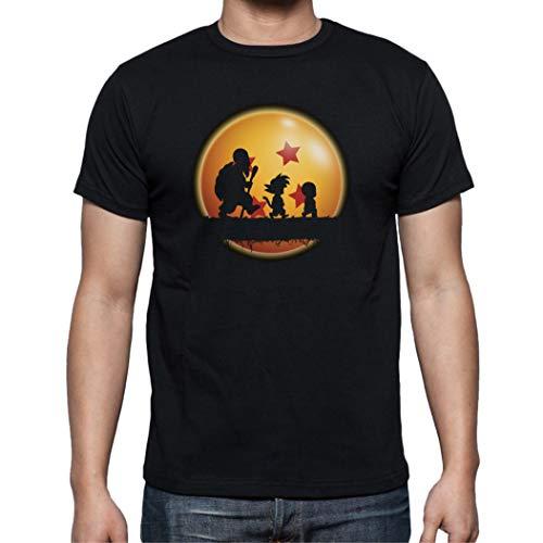 The Fan Tee Camiseta de Hombre Dragon Ball Goku Vegeta Bolas de Dragon Super Saiyan 024 M
