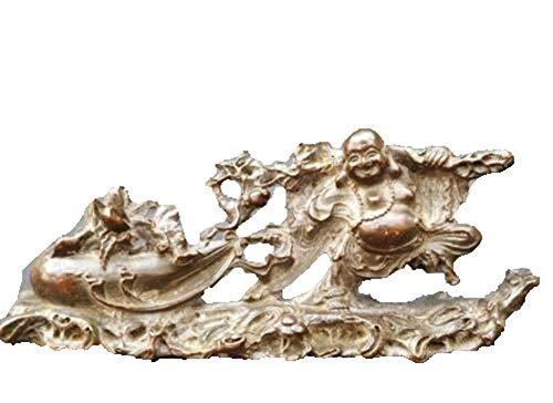 Antieke koper Diverse collectie van koper doek tas monnik sturen schat Boeddha gong kleine geschenken