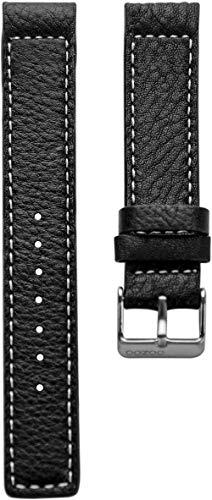 Oozoo Armband - Ersatzarmband für Oozoo Uhren etc. - 28 mm - Farbe : Schwarz