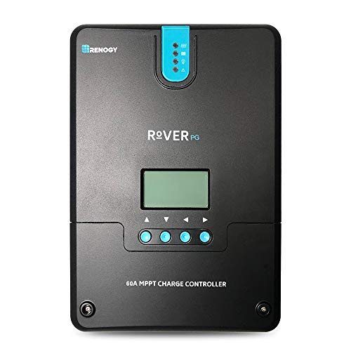 Renogy Rover 60 Amp 12V/24V/36V/48V MPPT Common Positive Solar Charge Controller Regulator Compatible with Lithium Sealed Gel, Flooded Batteries and Bluetooth Module