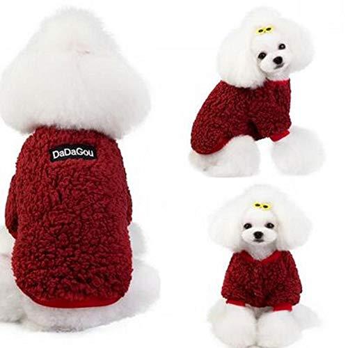 YBBT Pet Clothes Hundemantel Hundepullover Der weiche,Bequeme,warme und kältebeständige Hundepullover ist für kleine, mittlere und große Hunde geeignet
