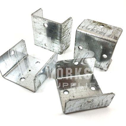 Pack of 40, 40mm Fence & Trellis Clips/Bracket Panel Fixing DECKING Post Rail