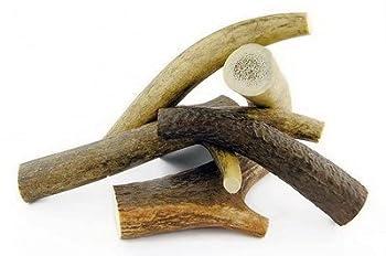 ARTISAN GIFT CO Bois de Cerf à Mâcher pour Chiots - 100% Naturel et Écologique - Taille XS - Pack 2 Unités, Poids Total Min. 70g