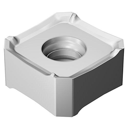 Sandvik Coromant 345R-13T5E-ML S30T Carbide Milling Insert, 0.03 mm Corner Radius, Negative Chip Breaker (Pack of 10)
