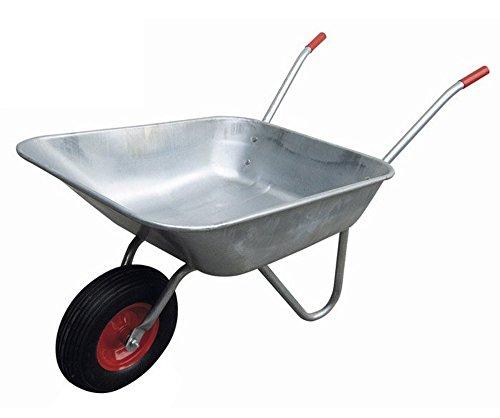 VERDELOOK Carriola in Acciaio zincato, Portata 75 kg, per Trasporto Merce, Fai da Te e Giardinaggio