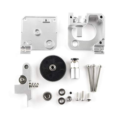 Aibecy 3DプリンターパーツシルバーTitan Aero Extruder 1.75mm Prusa i3 MK2 3Dプリンターと互換性のあるすべての金属押出機キット