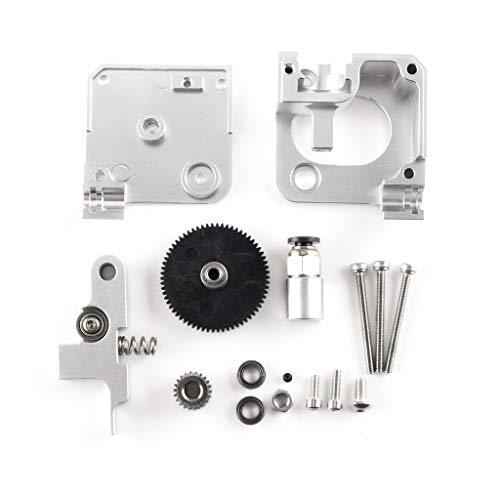 Walory Extruderteile, 3D-Druckerteile Silber Ganzmetall-Extruder-Kits Kompatibel mit Aero Extruder 1,75 mm Prusa I3 Mk2 3D-Drucker
