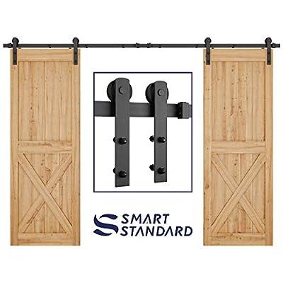 I Shape Single Door & Large Double Door Sliding Barn Door Hardware with Barn Door