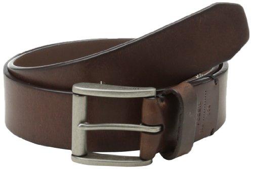 Fossil Men's Dacey Leather Belt, Dark Brown, Size 38