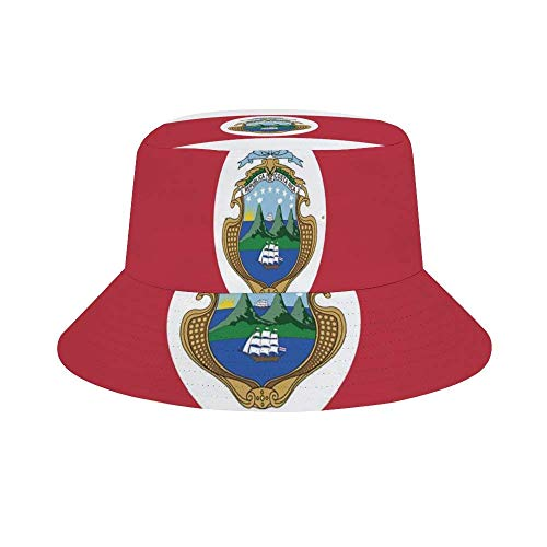 Gorra de Pescador de Verano con Bandera de Costa Rica para Mujeres y Hombres