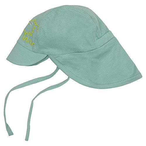Sigikid Baby-Jungen Mütze aus Bio-Baumwolle für Kinder Sonnenhut, Blau, 44 cm