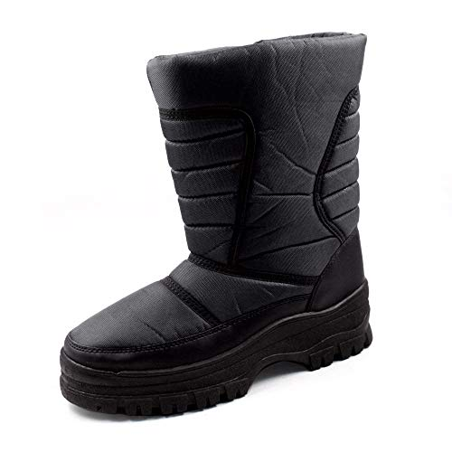 SkaDoo Mens Black Snow Winter Cold Weather Boots 10 M US