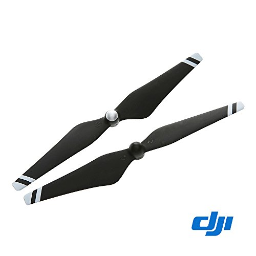 Genuine DJI Phantom 3 E305 9450 Carbon Fiber Reinforced Self-tightening Propellers Props (Composite Hub, Black with White Stripes) For Phantom 3 Professional, Advanced, Phantom 2 series, Flame Wheel series platforms and the E310/E305/E300 tuned propulsion systems