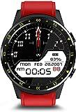 Smart Watch 1 3 pulgadas Tarjeta Dual Call Watch Al Aire Libre Multi-Deportes Modo GPS Información de Posicionamiento Recordatorio Fitness Pulsera-Rojo