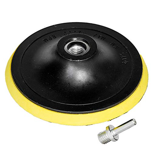 HIFROM 5-Inch/125mm Hook and Loop Backing Pad Orbital Sander Polisher Sanding Pad M14 Drill Adapter
