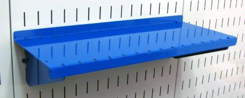 Wall Control Pegboard Shelf 6in Deep Pegboard Shelf Assembly for Wall Control Pegboard and Slotted Tool Board – Blue