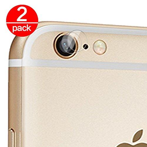 2X Cristal Templado para Lente Cámara de iPhone 6 Plus/6S Plus Ultra Fino Protector 2.5D 9H de Dureza Cámara Trasera Lente Película de Pantalla