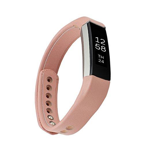 Watch Strap for Fitbit Echtleder Sport Fitness Ersatzschweißband Armband Watch Band Uhrenarmband HandschlaufeErsatzarmband für Fitbit Alta (ohne Tracker) (Rosa, Klein)