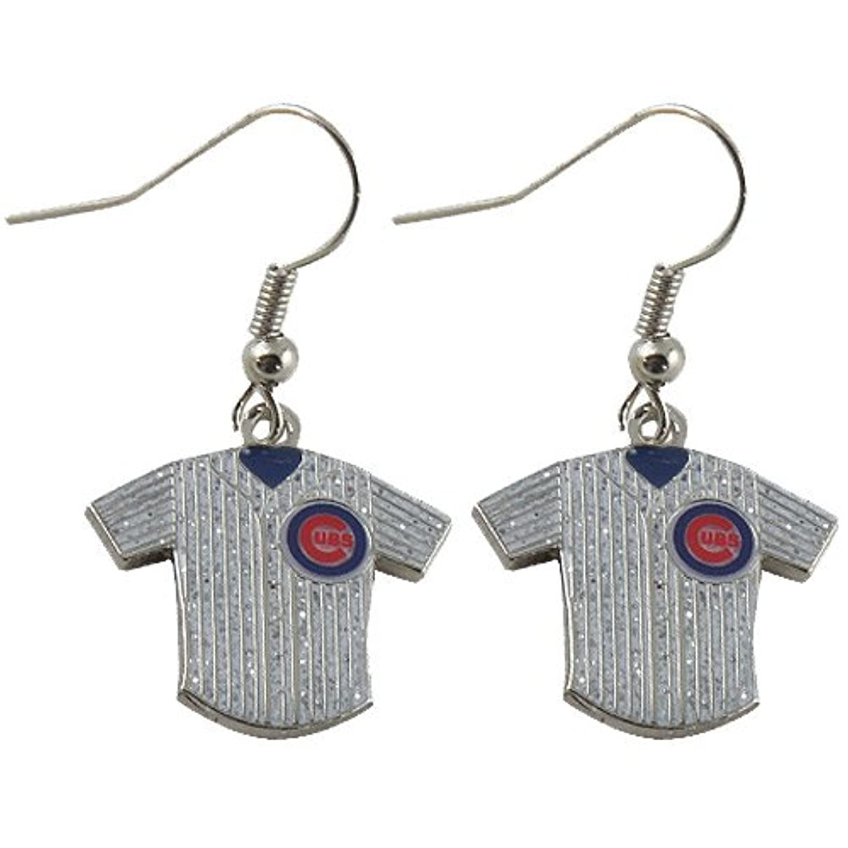 aminco Chicago Cubs Glitter Jersey Earrings