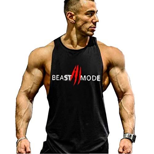 Cabeen Homme Beast Mode Bodybuilding Muscle Débardeur sans Manches Stringer Tank Tops