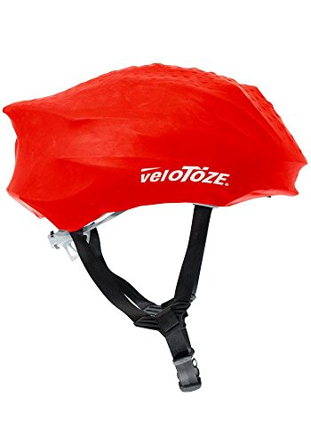 veloToze HEL-RED-002 - Funda para Casco Unisex, Color Rojo